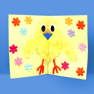 How To Make An Easter Chick Card