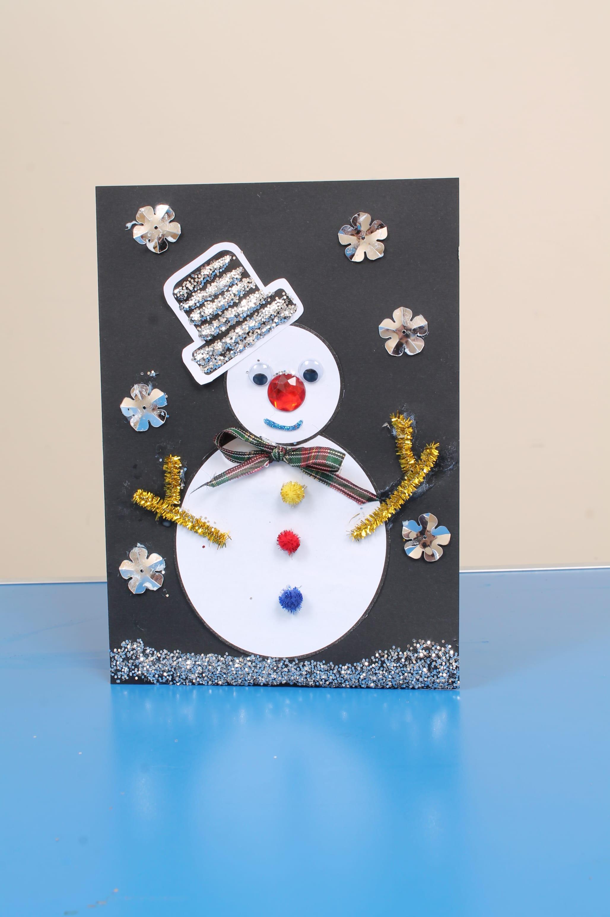 Snowman Christmas Cards Ks2.Christmas Card Craft Idea For Children