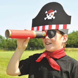 Printable Pirate Hat Template For Kids | 330x330