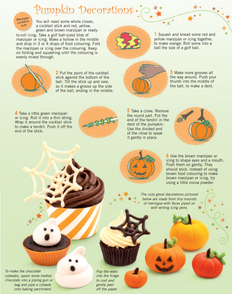 halloween pumpkin cake decorations