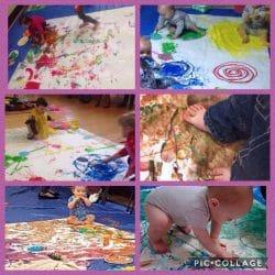 edible paint sensory play