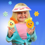 Chick Finger Puppets – Easter Craft Ideas