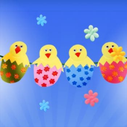Chicks in Egg Garland – Easter Craft Ideas