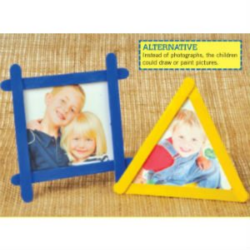 lolly sticks photoframe