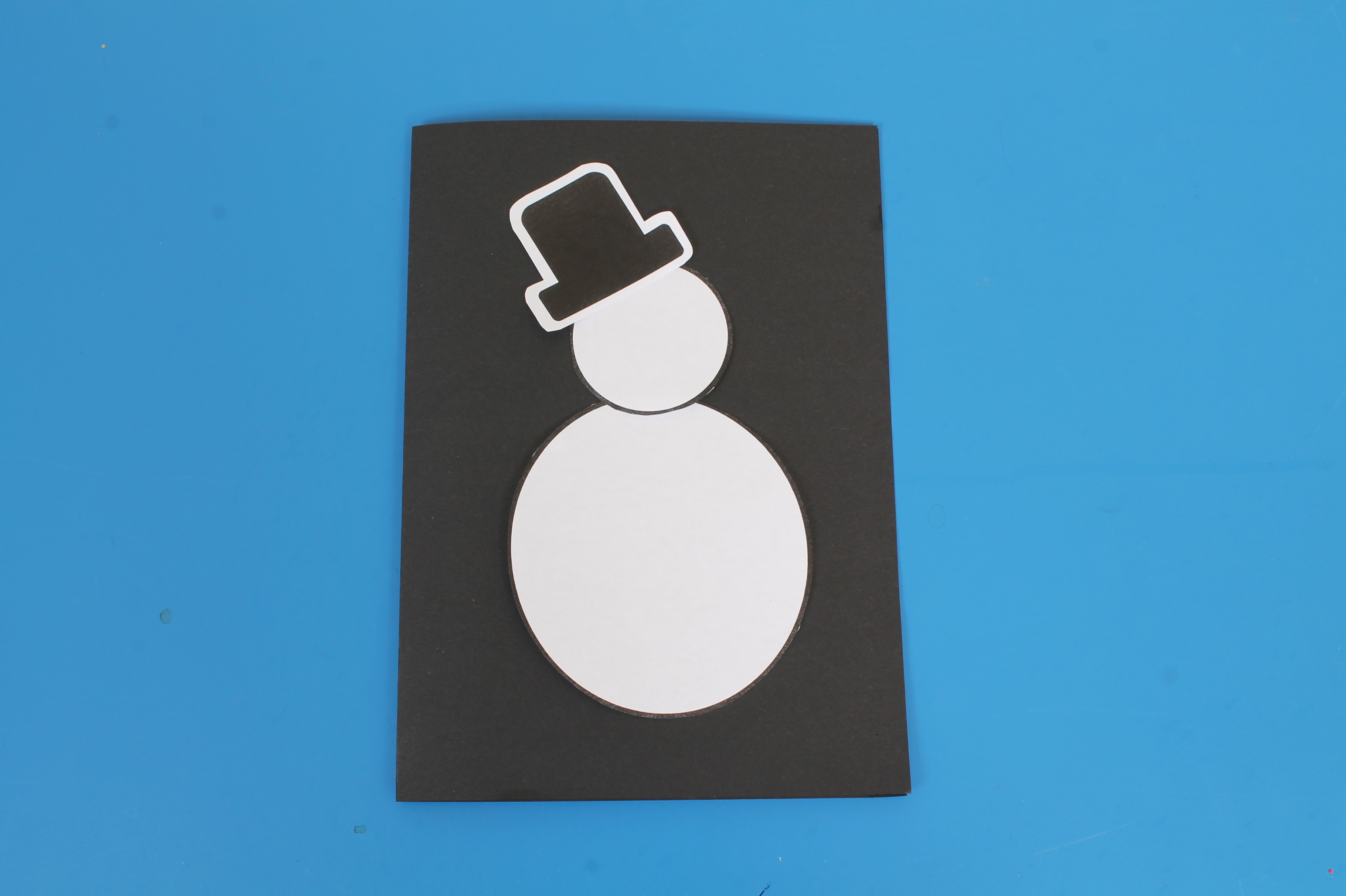Snowman Christmas Cards Ideas.Christmas Card Craft Idea For Children