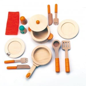 Wooden Cookware Play Set