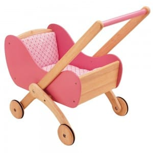 Wooden Dolls Buggy