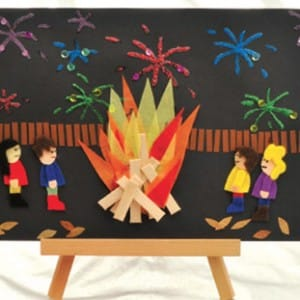 bonfire night craft ideas bonfire collage craft ideas early years 3462