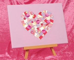 Heart Canvas crafts