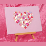 heart canvas collage kids crafts