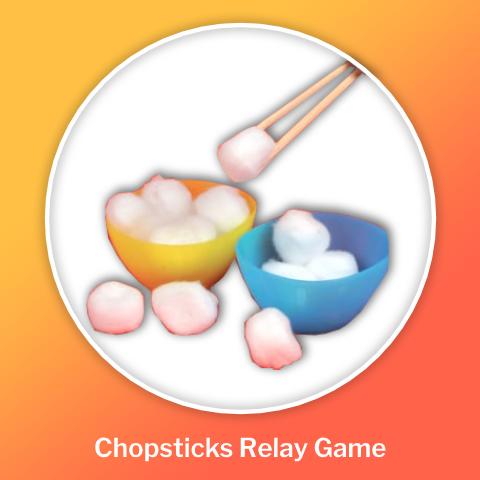 DIY chopsticks relay game chinese new year