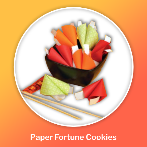 DIY paper fortune cookies chinese new year crafts