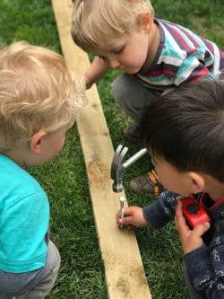 childrens wood work construction