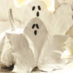 Leafy ghosts halloween crafts