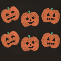 pumpkin prints halloween art craft
