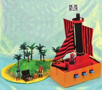 model pirate ship & treasure island crafts