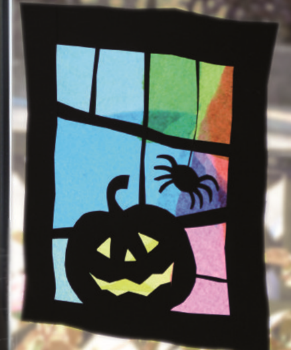 Halloween Window crafts suncatcher