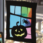Halloween Window suncatcher crafts