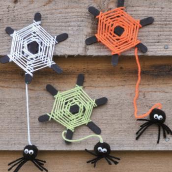 Spiders Webs halloween crafts