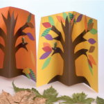 3D autumn trees cards crafts3D autumn trees cards crafts