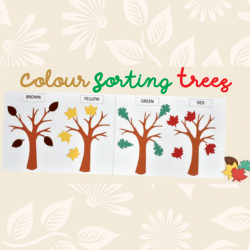 colour sorting trees autumn crafts
