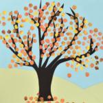Bubble Wrap Autumn Tree crafts