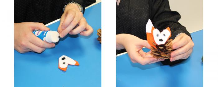 how to create pine cone animals