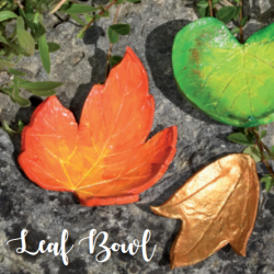 leaf bowls autumn crafts