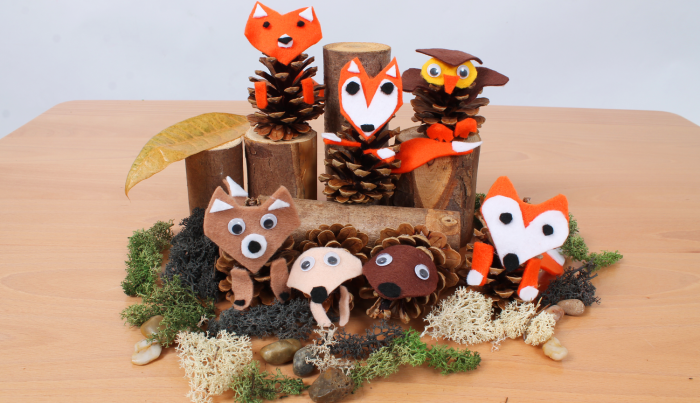 pine cone woodland animals crafts