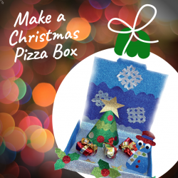 Christmas pizza box