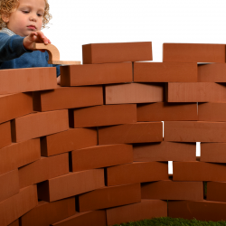 pretend brick building