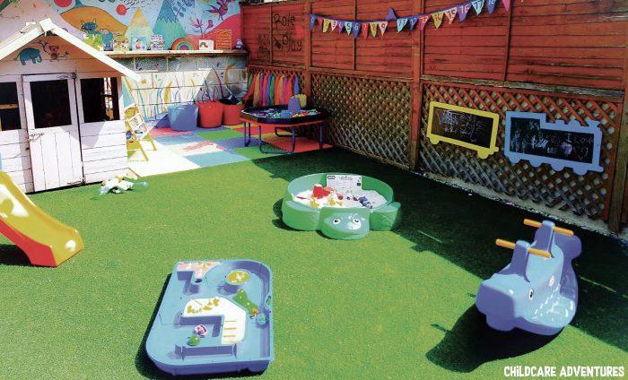 childminders setting childcare adventures garden outdoor play