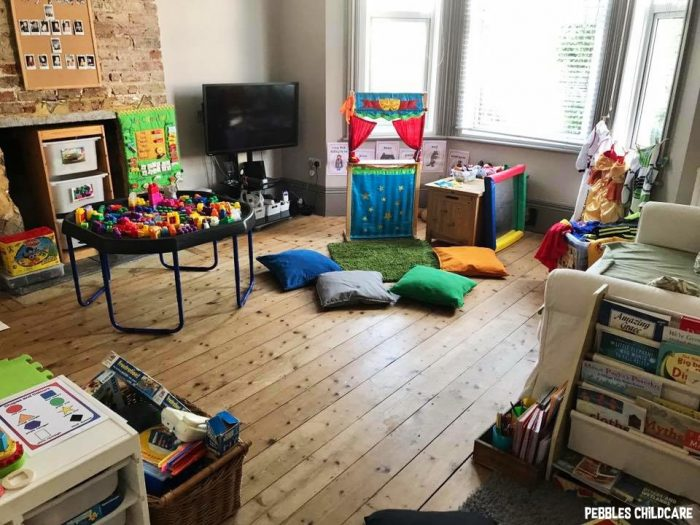 childminders setting pebbles childcare playroom living room