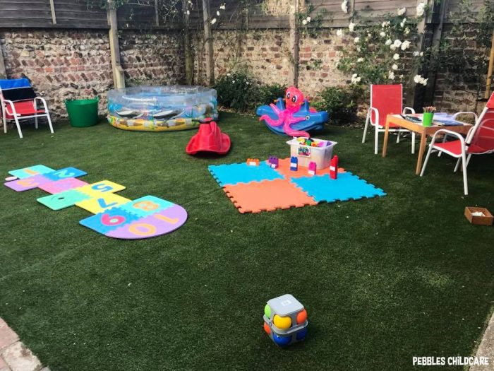childminders setting pebbles childcare garden outdoor play