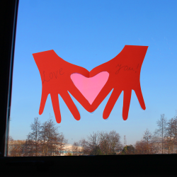 Heart Hands Valentine's Day Card Crafts