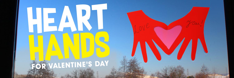 Heart Hands Valentine's Day Card Crafts