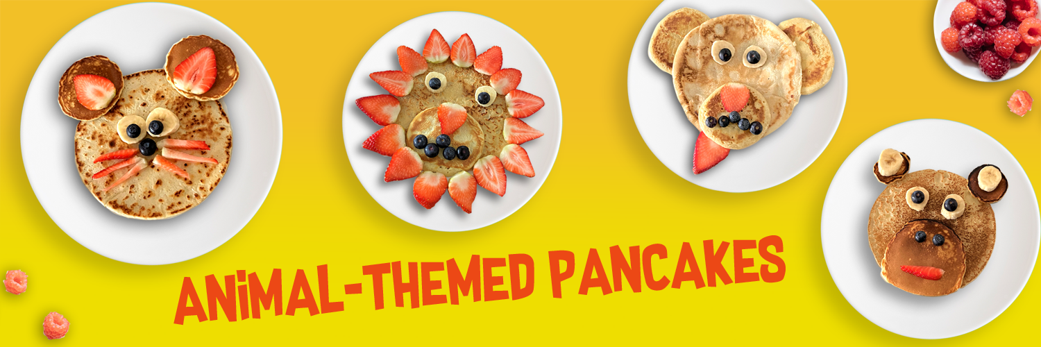healthy and fun animal themed pancake recipe with the kids for pancake day