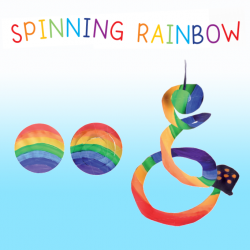 spinning rainbow window crafts for kids