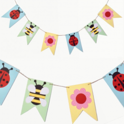 spring bunting for easter crafts