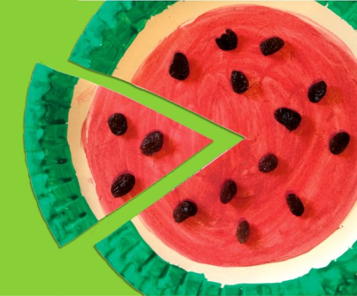 Watermelon counting summer craft