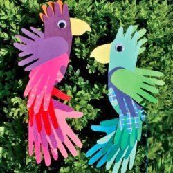 Handprint Parrots