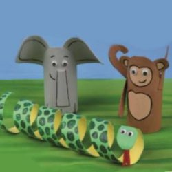 Card Tube Animals - Animal Crafts