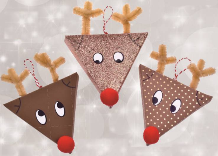Rudolph Gift Box Decorations - Christmas crafts