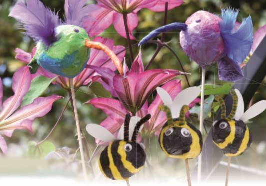 Buzzy Bees and Happy Hummingbirds