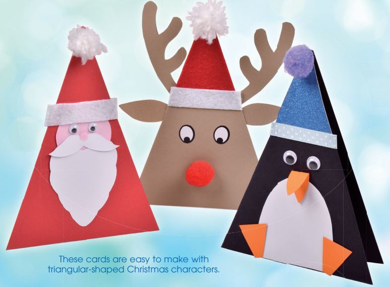 christmas character cards crafts