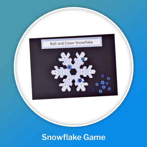 snowflake game winter crafts
