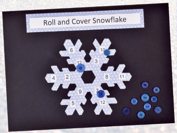 Snowflake Winter Game Christmas Crafts
