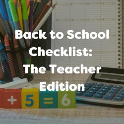 Back to school checklist for teachers