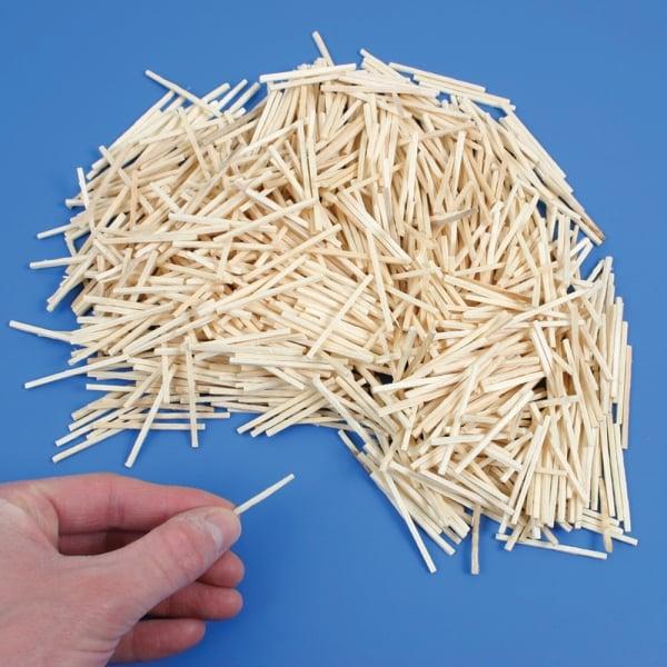 English In Italian: 1000 Natural Wooden Craft Matchsticks