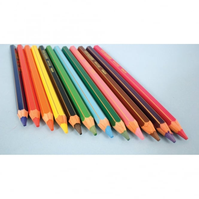 12 Chunky Colouring Pencils